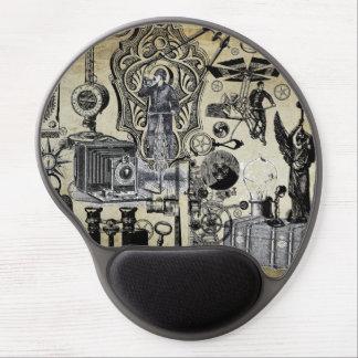 Steampunk Vintage Graphic Collage #3 Gel Mouse Pad