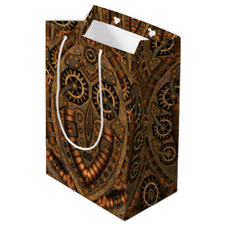 Steampunk Vintage Kaleidoscope Medium Gift Bag