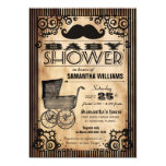 Steampunk Vintage Look Boy Baby Shower Personalised Announcement