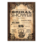 Steampunk Vintage Look Bridal Shower Tea Party Card