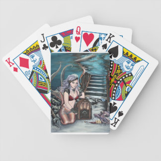 steampunk vintage mermaid where you left me bicycle playing cards