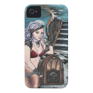 steampunk vintage mermaid where you left me iPhone 4 cover