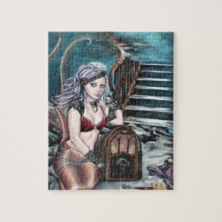 steampunk vintage mermaid where you left me jigsaw puzzle