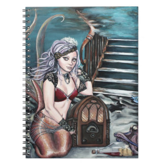 steampunk vintage mermaid where you left me notebook