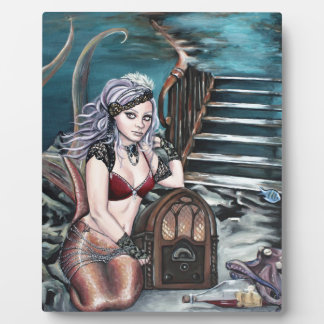 steampunk vintage mermaid where you left me plaque