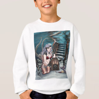steampunk vintage mermaid where you left me sweatshirt