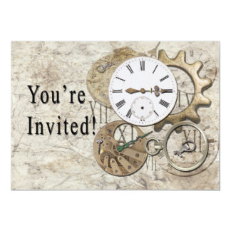 Steampunk Vintage Party Invitation