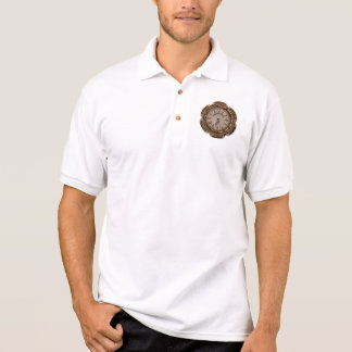 Steampunk Vintage Rusty Art Deco Clock Polo Shirt