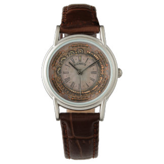 Steampunk Vintage Rusty Art Deco Clock Wristwatch