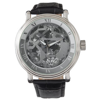 Steampunk Vintage Style Steel Look Watch