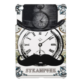 steampunk watch, bowler and moustache cover for the iPad mini