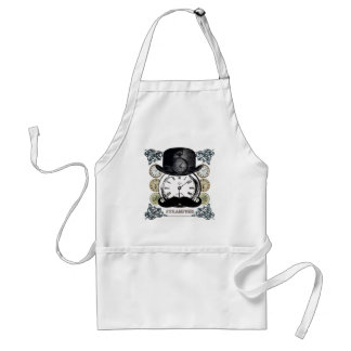 steampunk watch, bowler and moustache standard apron