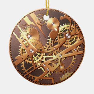 steampunk watch gears christmas ornament