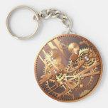steampunk watch gears keychain