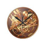 steampunk watch gears wall clock