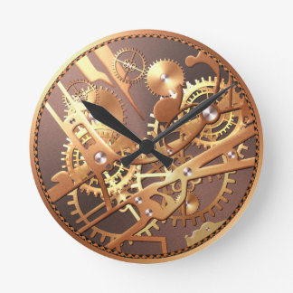 steampunk watch gears wall clock