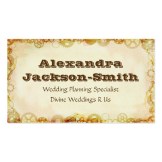 Steampunk Wedding, industry Business Card Templates