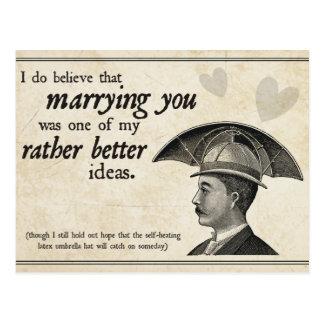 Steampunk Wedding Postcard