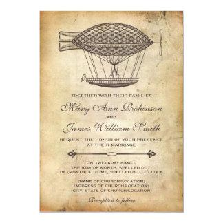 Steampunk Wedding Victorian Airship 13 Cm X 18 Cm Invitation Card