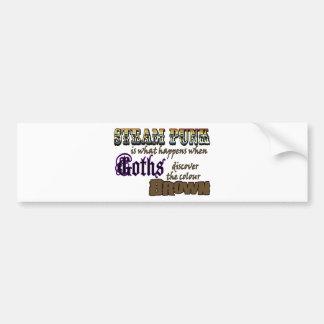 Steampunk: when Goths discover Brown Bumper Sticker