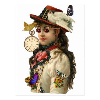 SteamPunk Woman Postcard