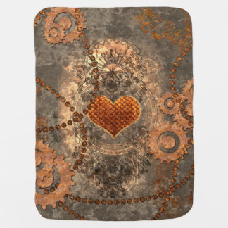 Steampunk, wonderful heart made of rusty metal buggy blankets