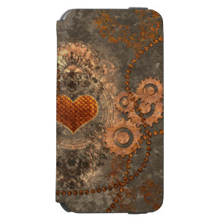 Steampunk, wonderful heart made of rusty metal incipio watson™ iPhone 6 wallet case