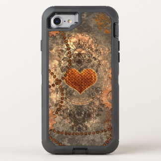 Steampunk, wonderful heart made of rusty metal OtterBox defender iPhone 8/7 case