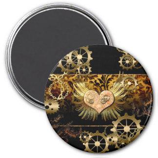 Steampunk, wonderful heart magnet
