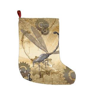 Steampunk, wonderful  steam dragonflies large christmas stocking