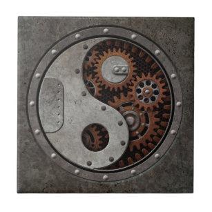 Steampunk Yin Yang Tile