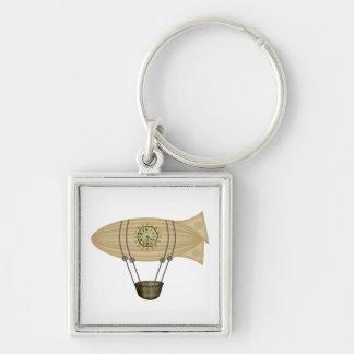 steampunk zeppelin airship key chain