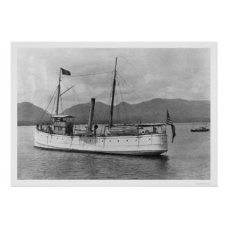 Steamship McArthur Alaska 1918 Poster
