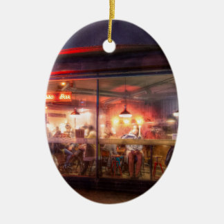 Steamy Shoreditch coffee house, London Christmas Ornament