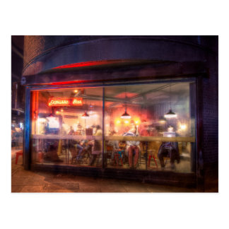 Steamy Shoreditch coffee house, London Postcard