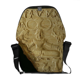 Steatite Pasupati seal, Mohenjodaro, 2300-1750 BC Messenger Bag