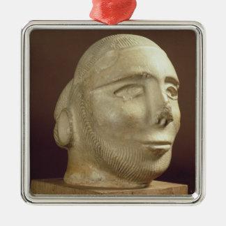 Steatite portrait head, Mohenjodaro, 2300-1750 BC Christmas Ornament