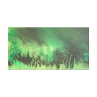 "Stebiart - fluidpainting ""Greenlands "" Stretched Canvas Print"