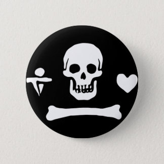 Stede Bonnet authentic pirate flag 6 Cm Round Badge