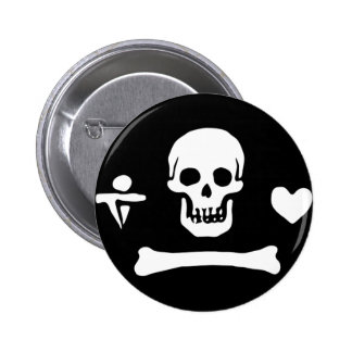 Stede Bonnet authentic pirate flag 6 Cm Round Badge