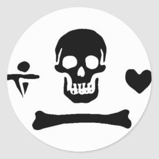 Stede Bonnet authentic pirate flag Classic Round Sticker