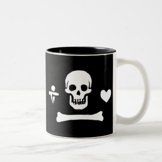 Stede Bonnet authentic pirate flag Two-Tone Coffee Mug