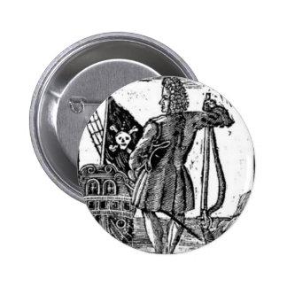 Stede Bonnet Pirate Portrait 6 Cm Round Badge