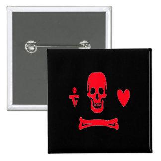 Stede Bonnet-Red 15 Cm Square Badge