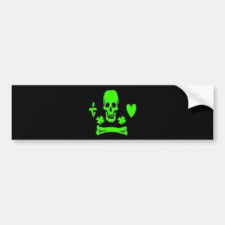 Stede Bonnet-Shamrock Bumper Sticker