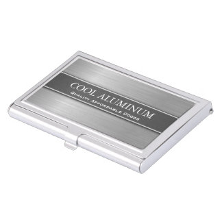Steel / Aluminum Effect Business Card Holder