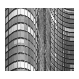 Steel and glass curtain wall of modern canvas print
