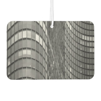Steel and glass curtain wall of modern car air freshener