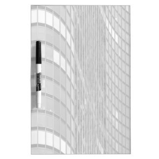 Steel and glass curtain wall of modern dry erase board