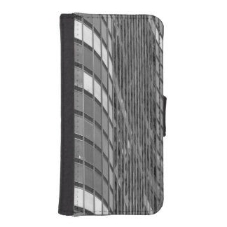 Steel and glass curtain wall of modern iPhone SE/5/5s wallet case